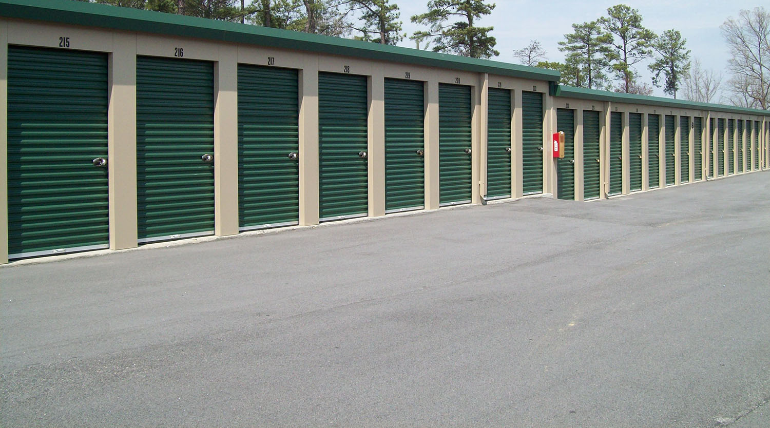 Wide Driveways with Drive Up Storage